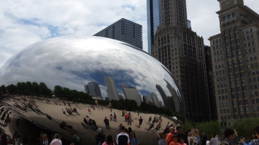 The famous bubble in Chicago.  Can you see me?