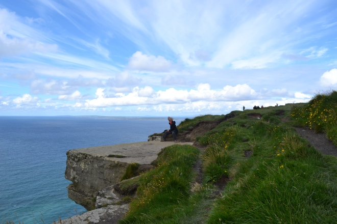 bt sitting on cliff edge