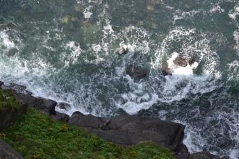 cliff hike water swirls