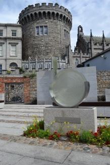 dublin castle glass orb in garden