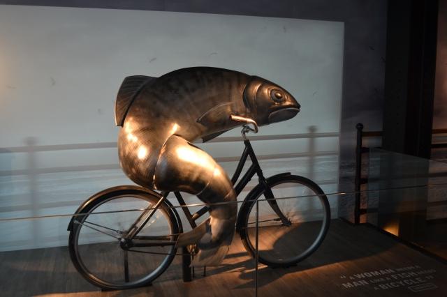 guinness fish riding bike